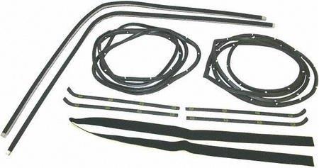 UPC 723651339212, 55-59 GMC FULL SIZE PICKUP fullsize WEATHERSTRIP KIT TRUCK, KIT, Door (Dlx Beltline + Pair Seals) (1955 55 1956 56 1957 57 1958 58 1959 59) C452158 N/A