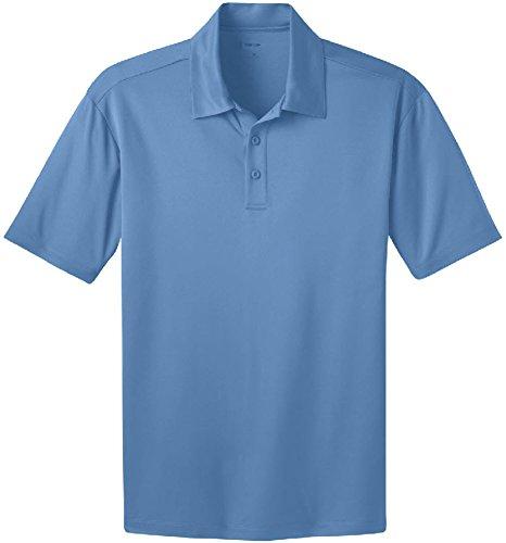 Men's Silk Touch Golf Polo's in 16 Colors - Carolina Blue, (3 Button Golf Shirt)
