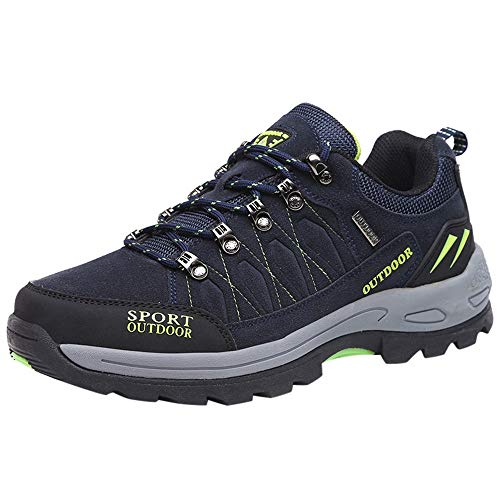 Lazzboy Trekking & Hiking Shoes Men Women Unisex Sport Outdoor Sneaker Cross Trainer Lac-up(9 UK,Navy)
