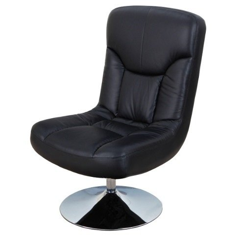 Relaxateeze Pocco Black Coloured Faux Leather Swivel Chair