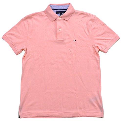 12df84e79 Tommy Hilfiger Mens Custom Fit Interlock Polo Shirt (Large