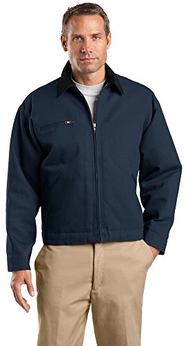 Cornerstone Jacket Work - Cornerstone Duck Cloth Work Jacket, 4XL, Navy/Black