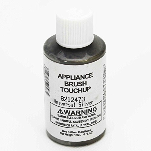 Whirlpool 8212473 Appliance Touch-Up Paint, 0.6-oz (Silver) Genuine Original Equipment Manufacturer (OEM) Part for Whirlpool, Kitchenaid, Kenmore, Maytag, Inglis, Gladiator, Silver - Silver Stoves