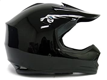Youth Gloss Black Dirt Bike Atv Motocross Off-road Helmet (Small)