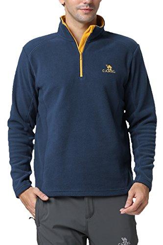 Camel Springs Fleece Sweatshirt for Men 1/4 Zip Fleece Pullover - Half Zip Windproof Pullover