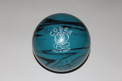 EPCO-Duckpin-Bowling-Ball-Cobra-Pro-Rubber-Teal-Black-Single-Ball