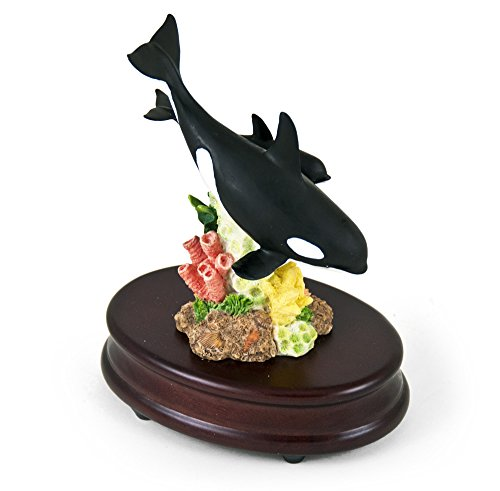 Incredible Mother Killer Whale And Baby Musical Figurine With 18 Note Tune Under The Sea  The Little Mermaid
