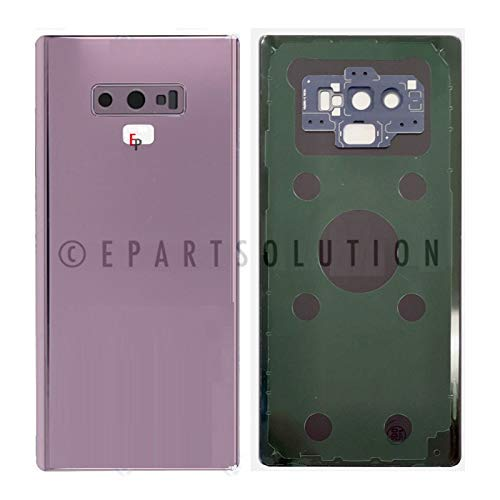 ePartSolution_Battery Door Back Cover Glass Housing + Rear Back Main Camera Lens for Samsung Galaxy Note 9 SM-N960 Replacement Part for USA (Purple)