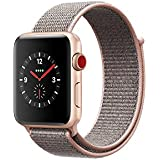 Apple Watch Series 3 - GPS+Cellular - Gold Aluminum Case with Pink Sand Sport Loop - 42mm