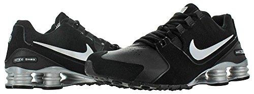 Nike Shox Vogue Mens In Pelle Scarpe Da Corsa Sneakers Nero / Argento Metallizzato