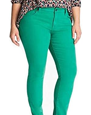 Women's Plus Ginger Skinny Colored Jeans