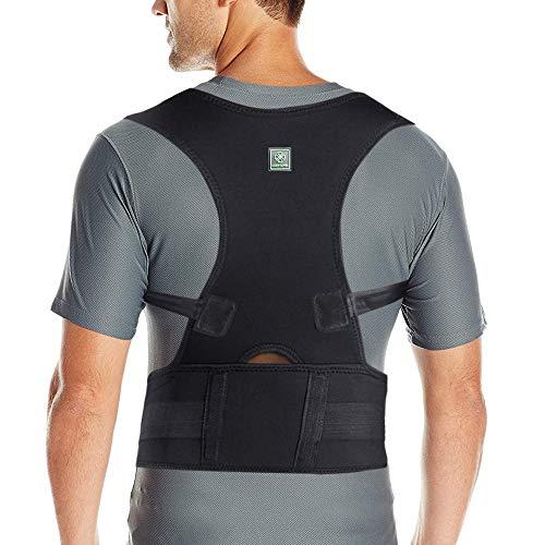 Posture Corrector for Men & Women That Provide Back Support Brace, Improve Thoracic Kyphosis, Prevent Slouching   Under Clothes Upper Back Brace   Adjustable Size (L(32'-36'))