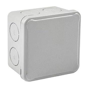 IDE EX088 IP54 Caja Estanca de Derivación con Tapa Opaca y Entradas Pretroqueladas, Gris, 84mm x 84mm x 50mm: Amazon.es: Industria, empresas y ciencia