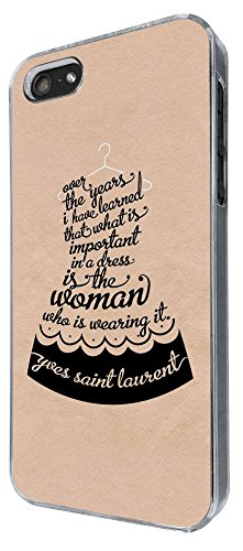512 - Fashion Quote Over The Years i learned that what is importand in a dress is the women who is wearing it Design iphone 4 4S Coque Fashion Trend Case Coque Protection Cover plastique et métal