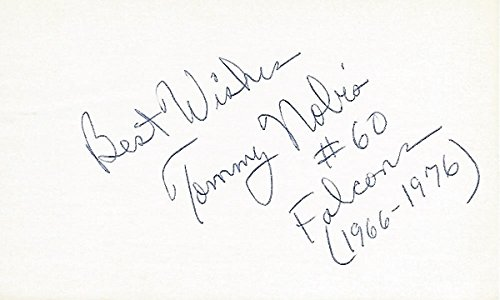 Atlanta Falcons Hall Of Fame - Tommy Nobis Signed - Autographed Texas Longhorns - Atlanta Falcons 3x5 inch Index Card - Guaranteed to pass PSA or JSA - College Hall of Fame
