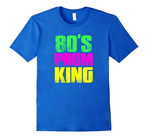 [Men's Men's 80's Prom King Eighties Neon Party Shirt Costume XL Royal Blue] (Social Media Sites Costumes)