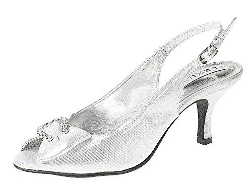 LEXUS Z027-NADYA - Zapatos de vestir para mujer plateado
