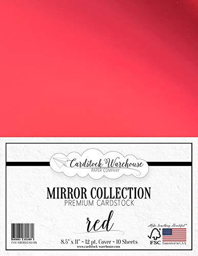 Mirror RED Mirricard Premium Cardstock 8.5