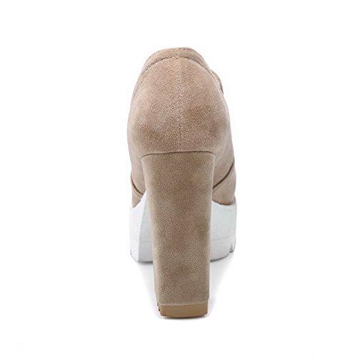 BalaMasa Womens Casual Platform Slip-Resistant Urethane Pumps Shoes ABL10347 Apricot slM6Wcsffw