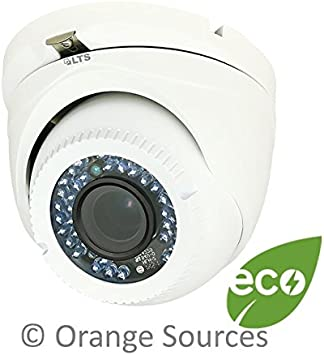 HD 1080P In//Outdoor Dome Camera with 2.8mm Wide Angle Lens with Power Supply