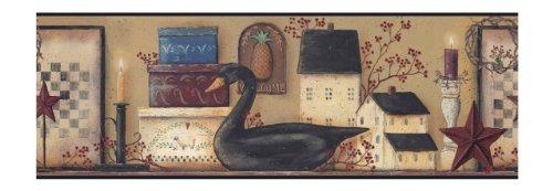 (York Wallcoverings BG1614BD The Black Swan Border)