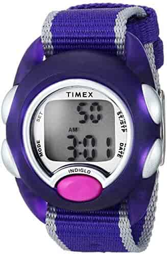 Timex Kids TW2R99100 Time Machines Digital Purple Fabric Strap Watch