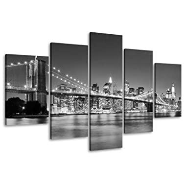 Picture 6402 on canvas length 40  height 20  New York pictures ready to hang framed , brand original Visario!