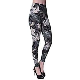 - 41KFZ3Vi21L - VIV Collection Printed Brushed Leggings Regular and Plus