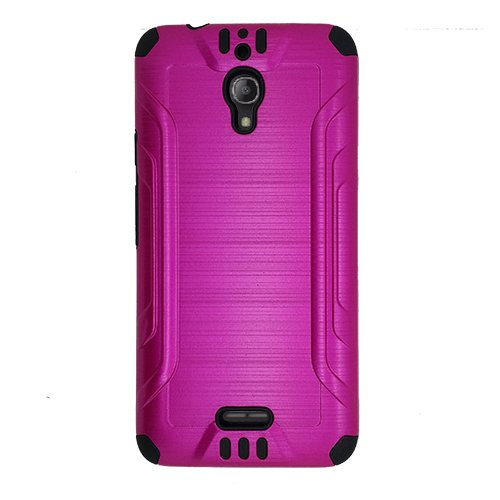 new product 0a26f 5dfa8 Phone Case for Cricket Alcatel Pixi Theatre Android Prepaid Smartphone,  Alcatel Pixi Theatre Case, Metallic Brushed Dual Layer Cover Case +  Tempered ...