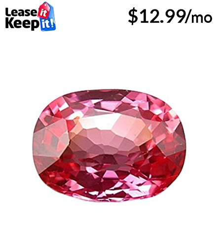 Lab Padparadscha Sapphire Cushion Unset Loose Gem ~12mm X 9mm ()