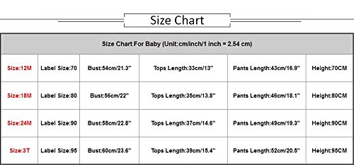Hatoys Baby Care Boys Girls Letter Print Tops T-Shirt Skull Pants 2Pcs Outfits Set (70) by Hatoys (Image #2)