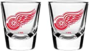 NHL Detroit Red Wings Shot Glass, 2-Pack