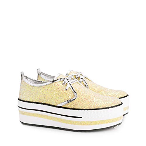 Sneakers Patrizia AN84 Jaune Pepe Femme 2V5803 qrwCtzr