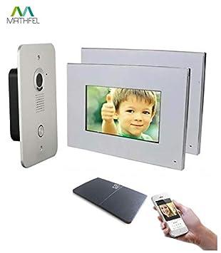 Super 2 Draht Video Türsprechanlage Gegensprechanlage 2x7'' Monitor mit BJ36
