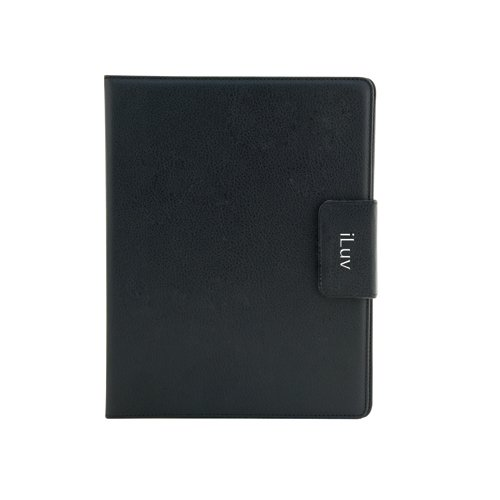 iLuv Ulster Portfolio Case for Apple iPad 4, iPad 3rd Generation and iPad 2 (iCC831BLK)