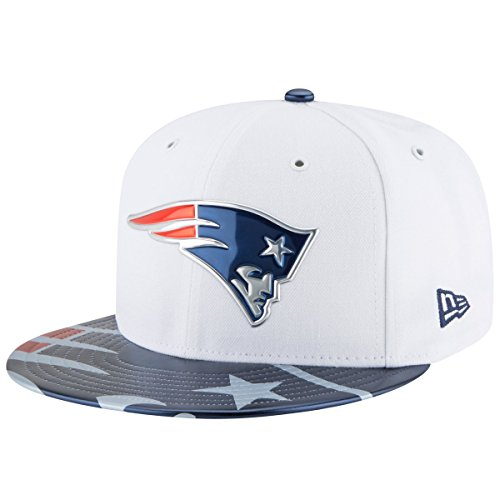 White 59fifty Cap (NFL New England Patriots 2017 Draft On Stage 59Fifty Fitted Cap, Size 7 1/2, White)