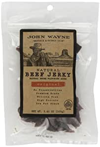John Wayne All Natural Beef Jerky, Original, 3.65-Ounce Bags (Pack of 8)