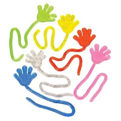 Fun toys Glitter Sticky Hand 24 Pack: Toys & Games