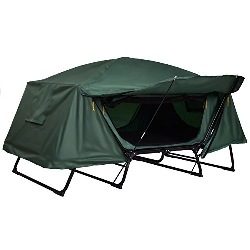 Tangkula Tent Cot Folding Waterproof 2 Person Hiking Elevated Camping Tent with Carry Bag by Tangkula (Image #3)