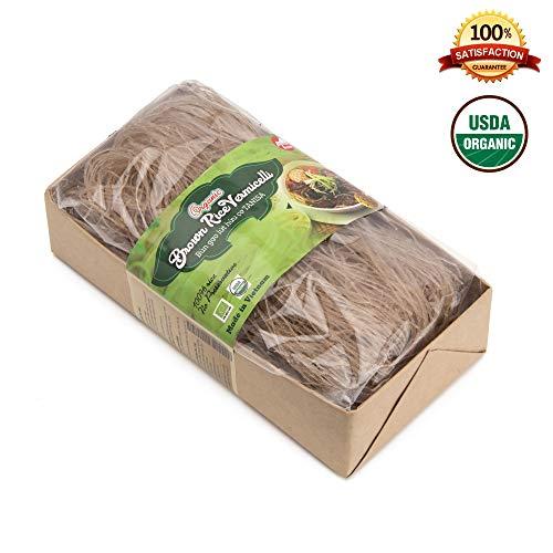 Tanisa ORGANIC Brown Rice Vermicelli Noodles USDA Certified - gluten free (7 Oz/pack) (Vietnamese Bun)