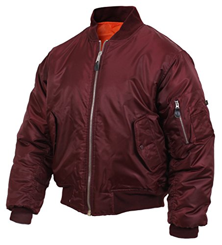 ROTHCO MA-1 Flight Jacket, Maroon, XL (Leather Jacket Boys 8 20)