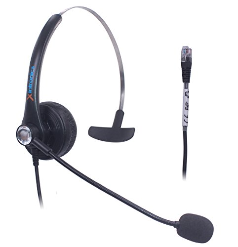 Fivetech Call Center Headset for Aastra Allworx Altigen Avaya Nortel Meridian Norstar NEC PolyCom ShoreTel Plantronics Samsung Talkswitch IP Phone 6755i Ip Phone