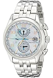 "Citizen Women's FC0000-59D ""World Time A-T"" Stainless Steel Eco-Drive Watch"
