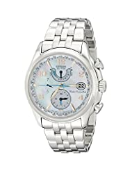 Citizen Women's FC0000-59D World Time A-T Eco-Drive Mother-Of-Pearl Dial Watch