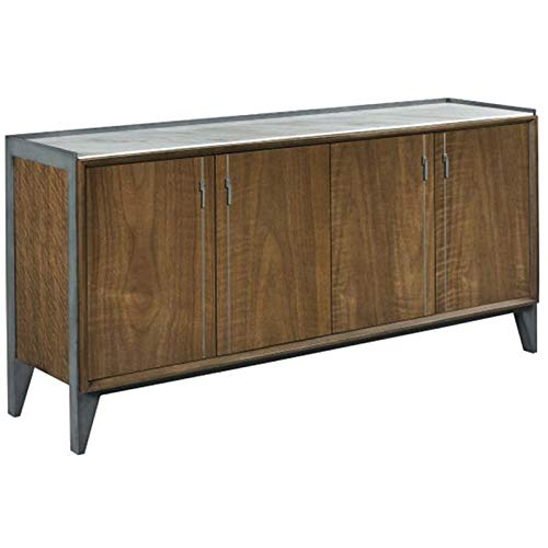 American Drew AD Modern Synergy Sublime Marble Top Buffet in Walnut