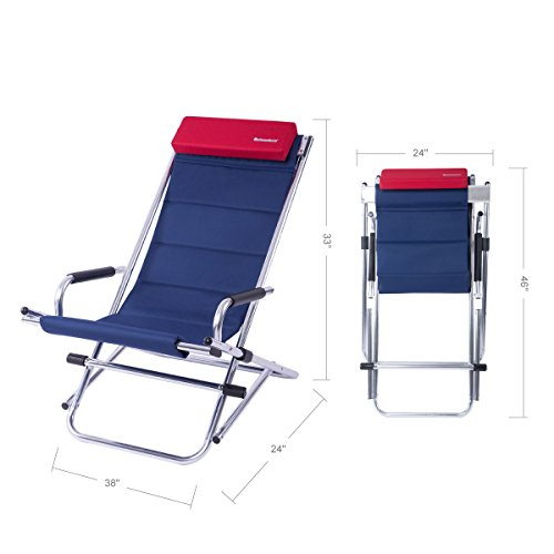 Amazoncom Onwaysports Zero Gravity Aluminum Frame Rocking Chair With  Headrest Folding Portable Compact Lightweight For Outdoor