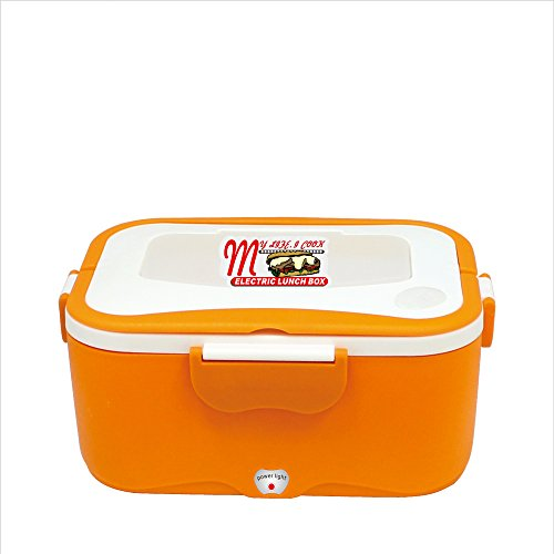 Generic portable electric heating lunch box case for 12V 35W 1.5L (orange)