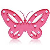 Pink Butterfly Night Light Decor Lamp Gifts For Girls