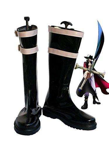 Een Stuk Anime Dracule Mihawk Cosplay Schoenen Laarzen Op Maat Gemaakt