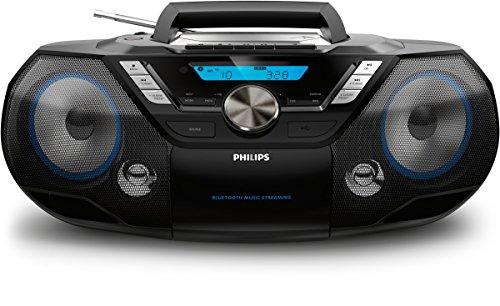 Philips AZB798T / 12 CD-Soundmachine, draagbare CD-speler (radio DAB + / FM, Bluetooth, CD, MP3-CD, USB, cassette, alles…